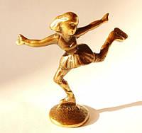 Коллекционная скульптура,Фигуристка! Бронза!Редкая