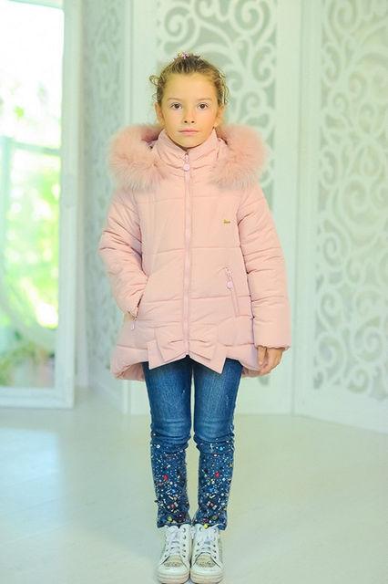 "Зимняя куртка на девочку ""Бант"""