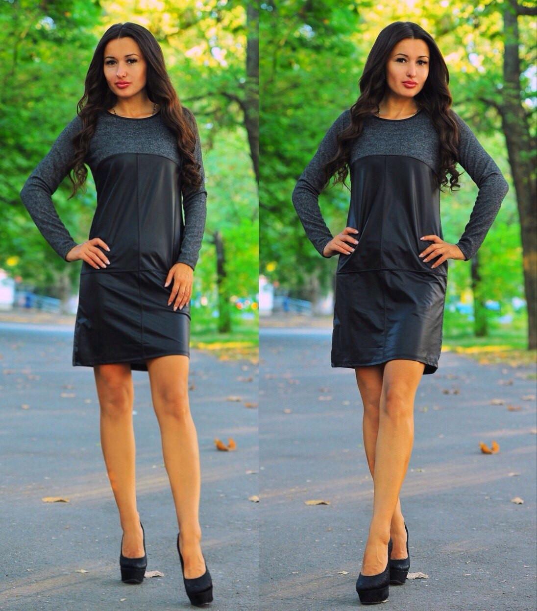 Платье экокожа Турция
