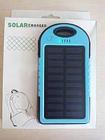 Внешний аккумулятор Power Bank 10000mAh на солнечной батарее, противоударный, водонепроницаемый