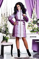 Женская стильная зимняя куртка р. 44-54 арт. 816 Тон 2