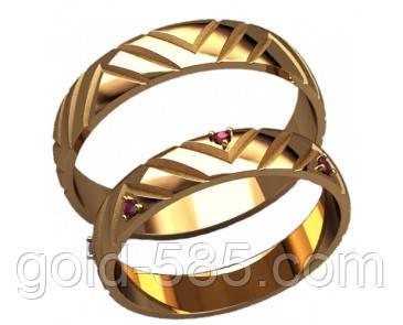 Стильные золотые обручальные кольца 585  пробы, цена 4 650 грн ... 2666e5de506