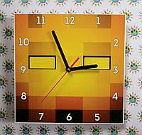 Часы настенные Майнкрафт огонь
