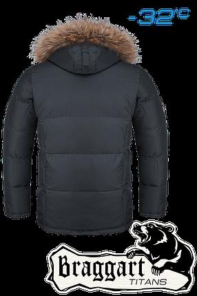 Мужская зимняя куртка-парка большого размера Braggart р.56-60 арт. 1805 графит, фото 2