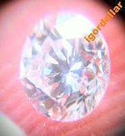 Бриллиант натуральный природный 3 мм 0,1 Кт