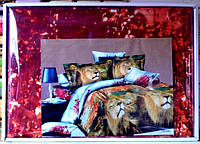 3D Сатиновое двуспальное постельное белье комплект