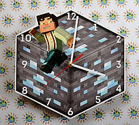 Часы настенные Minecraft 2