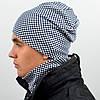 Комплект шапка+баф, трикотажный, фото 2