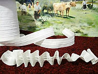 Тесьма для штор (гардин) узкая 25мм хлопковая.