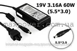 Блок питания для ноутбука Samsung 19v 3.16a 60w (5.5/3.0) ADP-60ZH, R440 R458 R460 R462 R463 R464 R465 R466