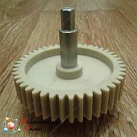 Шестерня привода шнека с металлическим валом для мясорубки Vinis (Винис) d=78 L=72 z=44, фото 1