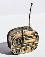 Коллекционная скульптура,Радио! Миниатюра! Серебро