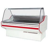 Холодильная витрина среднетемпературная с гнутым стеклом W-12 SG, (глубина-1090мм)