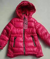 Куртка зимняя на девочку NATURE с цветными молниями