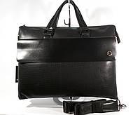 Кожаный портфель, сумка для документов, папка MontBlanc 319-1 унисекс , 40*30*12 см