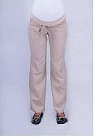 Льняные брюки для беременных 54 разм.