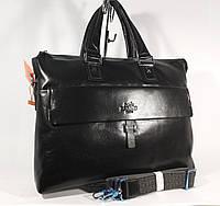Кожаный мужской портфель, сумка для документов, папка  Hermes 6951-1, 40*29*8 см