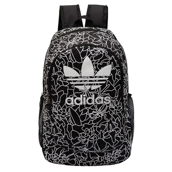 Рюкзак Adidas черный с белыми рисунками (реплика)