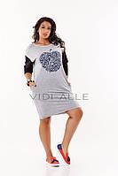 Модное молодежное платье (48-58 в расцветках), фото 1