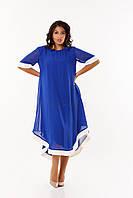 Длинное батальное платье (размеры 50-58)