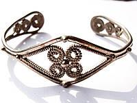 Очаровательный браслет! Скань! Серебрение!