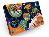 Dino Art Набор ручной росписи 3D моделей динозавров DA-01-04