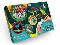Dino Art Набор ручной росписи 3D моделей динозавров DA-01-05