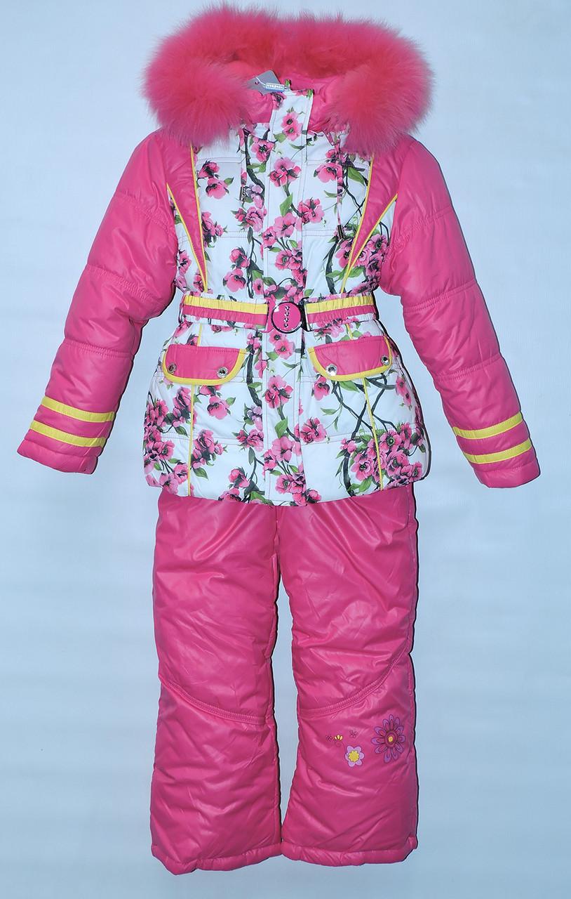 fecab4111d35ef Зимовий комбінезон трійка для дівчинки 1-5 роки Yongwan рожевий