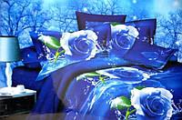 """Комплект полуторного сатинового постельного белья """"Лилия"""" HD"""
