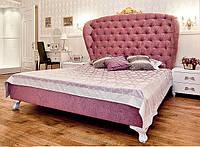 Двуспальная Кровать Royal 160*200 с мягким изголовьем в форме крыльев и резной короной на заказ