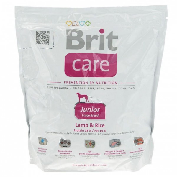 Brit Care Junior Large Breed Lamb & Rice 12 kg для цуценят гігантських порід
