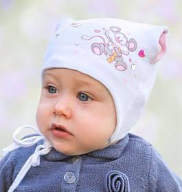 Головной убор для малышей Шапочка Розовая Осень 42-44 см 3-002225 Tutu Польша