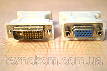 Перехідник гніздо VGA на штекер DVI-D