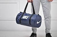 Сумка спортивная Nike бочка синяя / nike