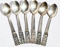 Чайные ложки,набор,6 шт! Серебрение! МНЦ,СССР!