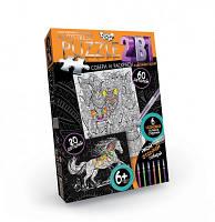 Пазлы раскраски Антистресс 60 и 20 деталей Danko toys AP-01-05