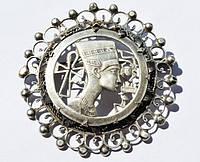 Шикарная брошь,подвеска! Серебро! Нефертити,Египет