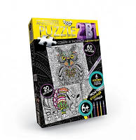 Пазлы раскраски Антистресс 60 и 20 деталей Danko toys AP-01-06