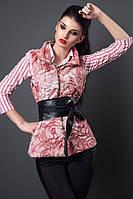 Нарядная меховая женская  жилетка
