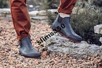 Стильные мужские резиновые ботинки  45р