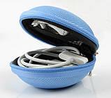 Чохол захисний для навушників і дрібних аксесуарів кулястий на блискавці БЛАКИТНИЙ SKU0000293, фото 5