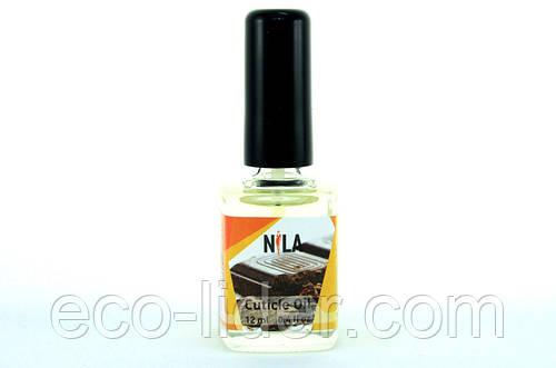Масло для кутикулы с запахом шоколада с кисточкой, ТМ Nila 12 мл