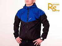 Мужская ветровка Nike black-blue (windrunner)