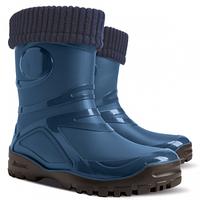 Подростковые резиновые сапоги Demar Young Fur синий р.36-42 мальчикам и девочкам на осень и зиму