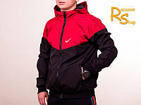 Мужская ветровка Nike black-red (windrunner)