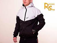 Мужская ветровка Nike black-white (windrunner)