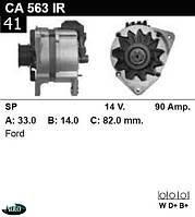Генератор  Ford Scorpio  Sierra 90Amp.CA563IR