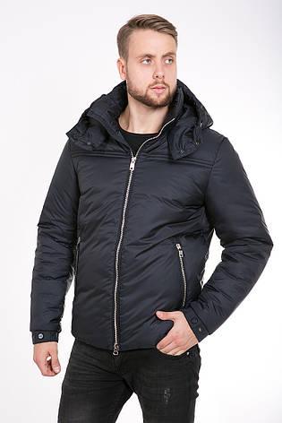 Зимняя мужская куртка T-226 черная, фото 2