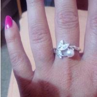 Женское серебряное кольцо с жемчугом 18р