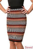 Теплая женская вязанная юбка